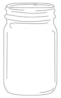 Jar clipart black and white Free jar flowers jar