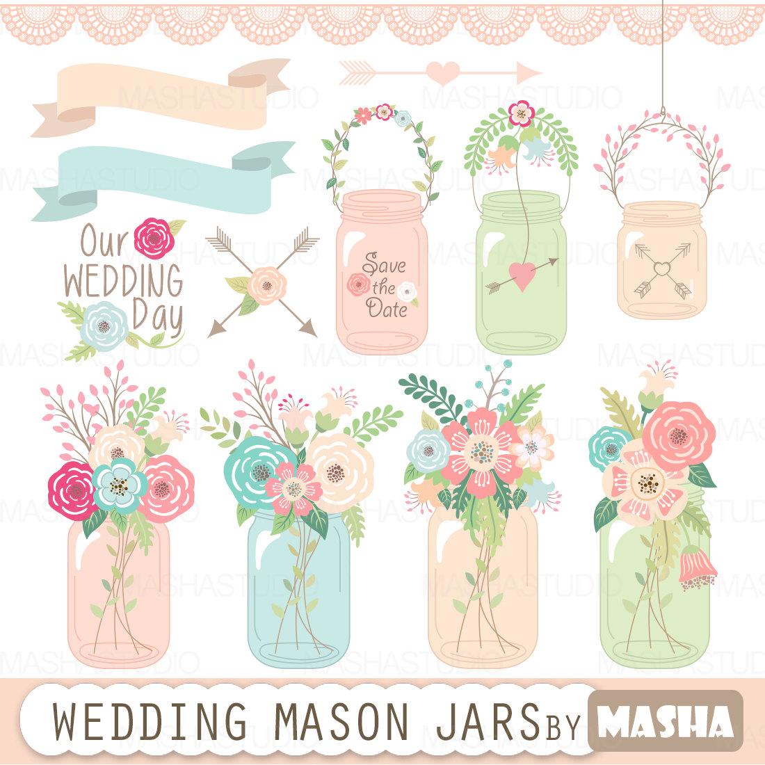 Background clipart mason jar #4