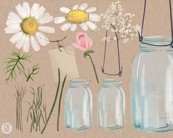 Bouquet clipart baby's breath Watercolor breath This  digital
