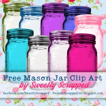 Mason Jar clipart ball jar Colored Art Art Mason Jar