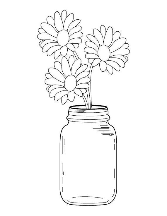 Mason Jar clipart clear Fall Coloring Clear Kid A