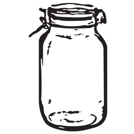 Mason Jar clipart clear RubberStamps com Wedding Stamps Jar