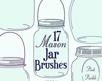 Mason Jar clipart glass jar Glass clipart jar collection Ball