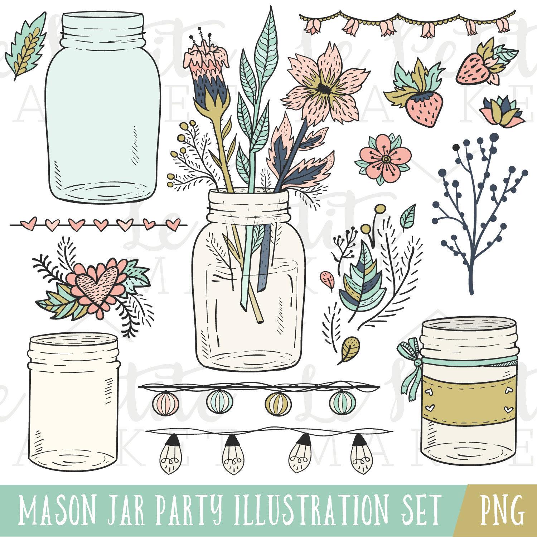 Mason Jar clipart masson Clipart Mason Mason Clip Jar