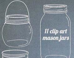 Mason Jar clipart masson Hanging digital for jar wedding