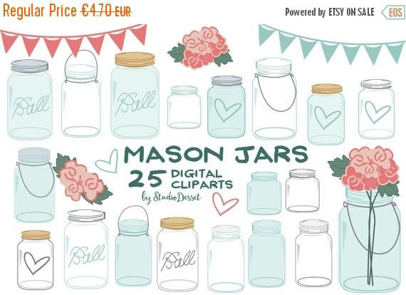 Mason Jar clipart masson Jar SALE Chic Cliparts Jars