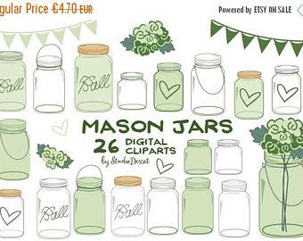 Mason Jar clipart mint green Mint Chic Mothers Drawn Mason