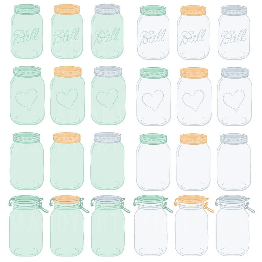Mason Jar clipart mint green Jar Jar Mint Mason digital