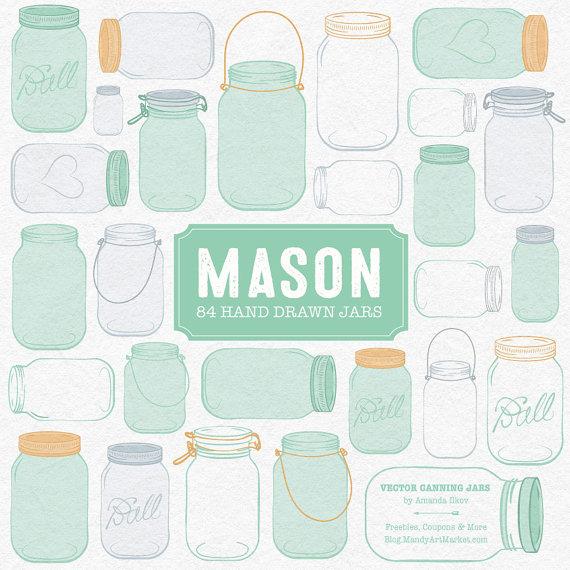 Mason Jar clipart mint green Clipart Green Mason in Professional