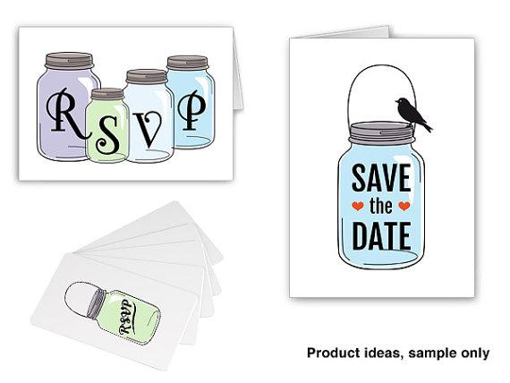 Mason Jar clipart rsvp Clip RSVP invitation date a