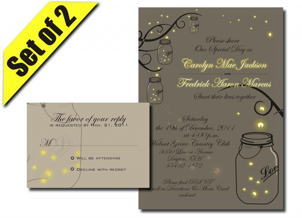 Mason Jar clipart rsvp RSVP & Jar Invitation Jar