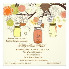 Mason Jar clipart rsvp Mason Wedding Shower Country Mason