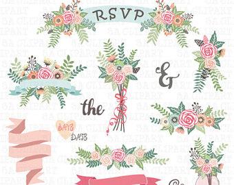 Mason Jar clipart rsvp Bouquet MASON Mason WEDDING