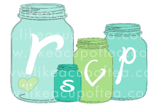 Mason Jar clipart rsvp Wanted Template Jar – jars
