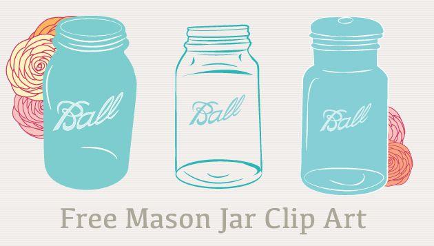 Mason Jar clipart southern  Vectors Free Clip Mason