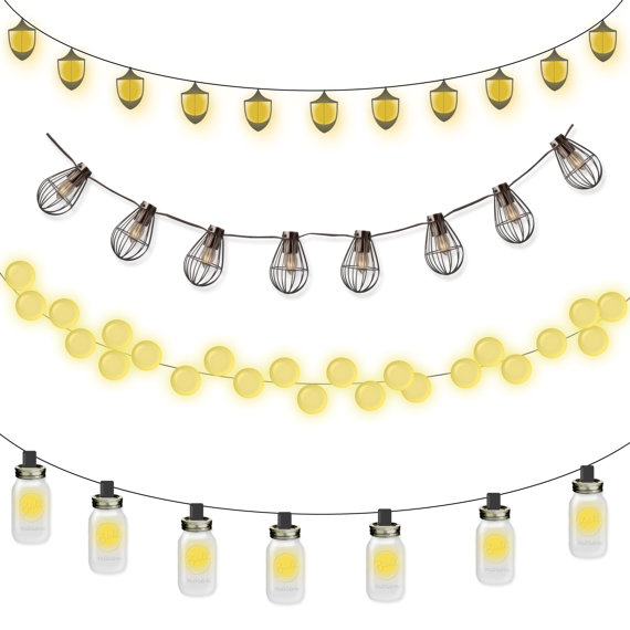 Yellow clipart string light Strings Clipart Download Jar Commercial