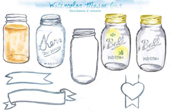 Mason Jar clipart transparent background Clipart Firefly Mason Jar Art