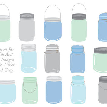Turquoise clipart mason jar #9