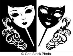 Masquerade clipart Masquerade masquerade Two 9 masks