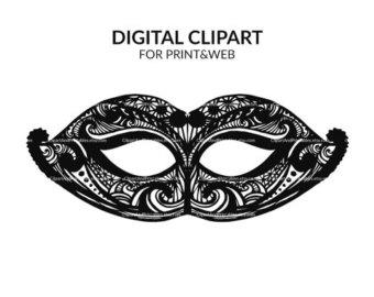 Masquerade clipart Etsy Printable mask Masquerade digital