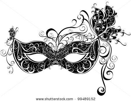 White clipart masquerade mask Pont Magz 4 Clip Art