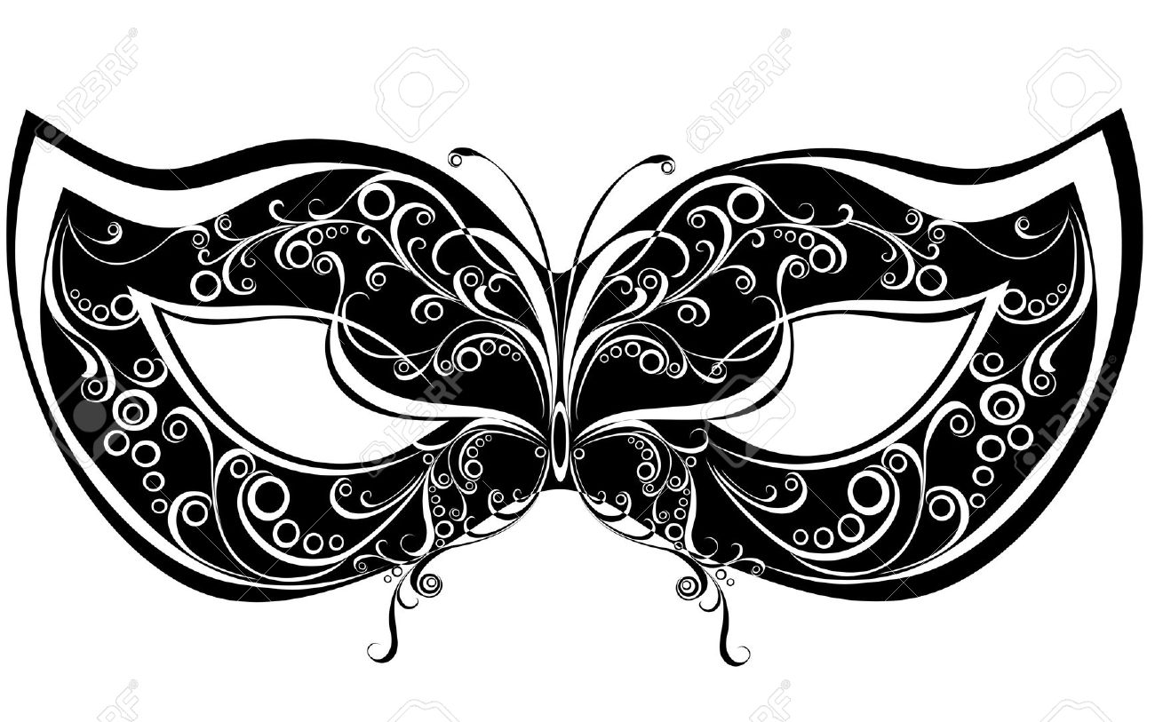 Masquerade clipart black mask Mask Printable Masquerade Illustrations Stock