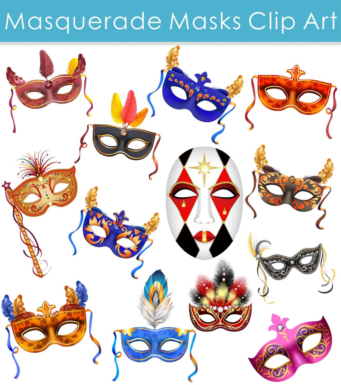 Masquerade clipart carnival mask Mask This digital Masquerade file