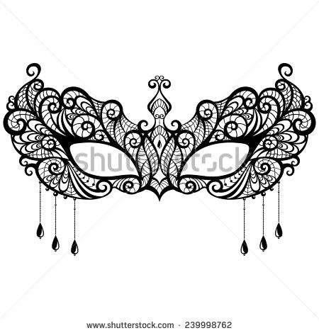 Masquerade clipart eye mask Masquerade vector  Vector white