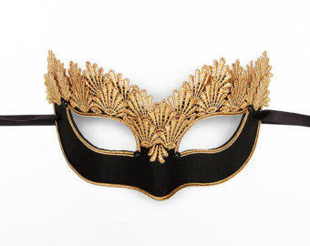 Masquerade clipart gold Venetian Black & For Halloween