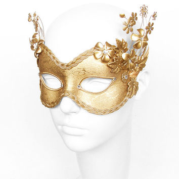 Masquerade clipart gold Flowers on Gold Costumes Styl