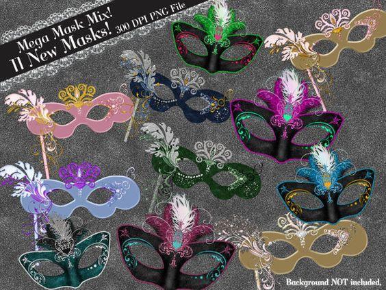 Masquerade clipart mascara Clip Mask BellasScrapsnClips Gras Clipart
