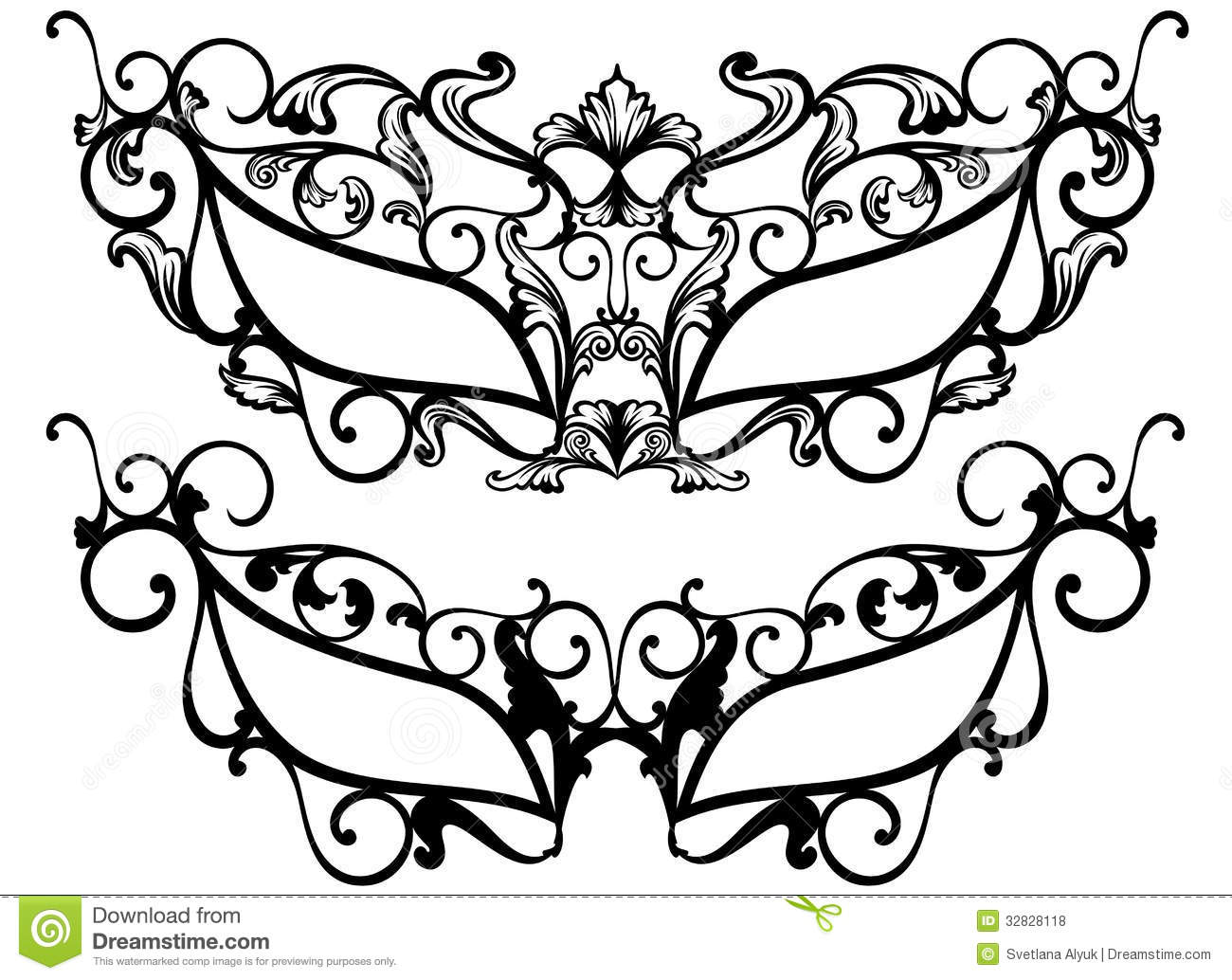 Masquerade clipart mascara Masquerade Vector Royalty Photos