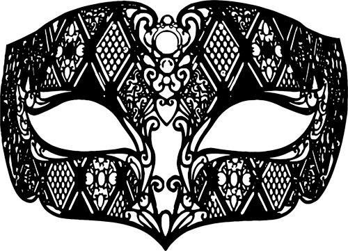 Masquerade clipart masquerade ball mask Art venetian filigree mask bird