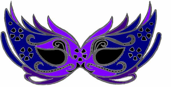 Masquerade clipart masskara festival Clip Purple Purple&blue com clip