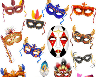 Mask clipart party Mask Clip Masquerade Clipart Etsy