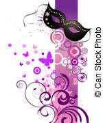 Masquerade clipart pink Ball  EPS Vector Masquerade