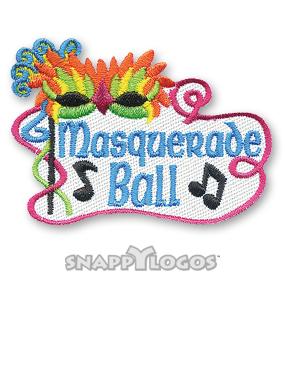 Masquerade clipart prom Patch Snappylogos Fun Snappylogos Masquerade