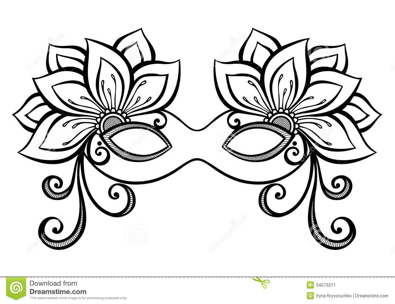 Masquerade clipart prom Download coloring Masquerade drawings Masquerade