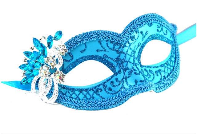 Masquerade clipart prom Accent Jeweled Aqua Mask