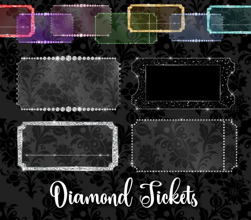 Masquerade clipart prom Clipart glitter ticket Tickets diamond
