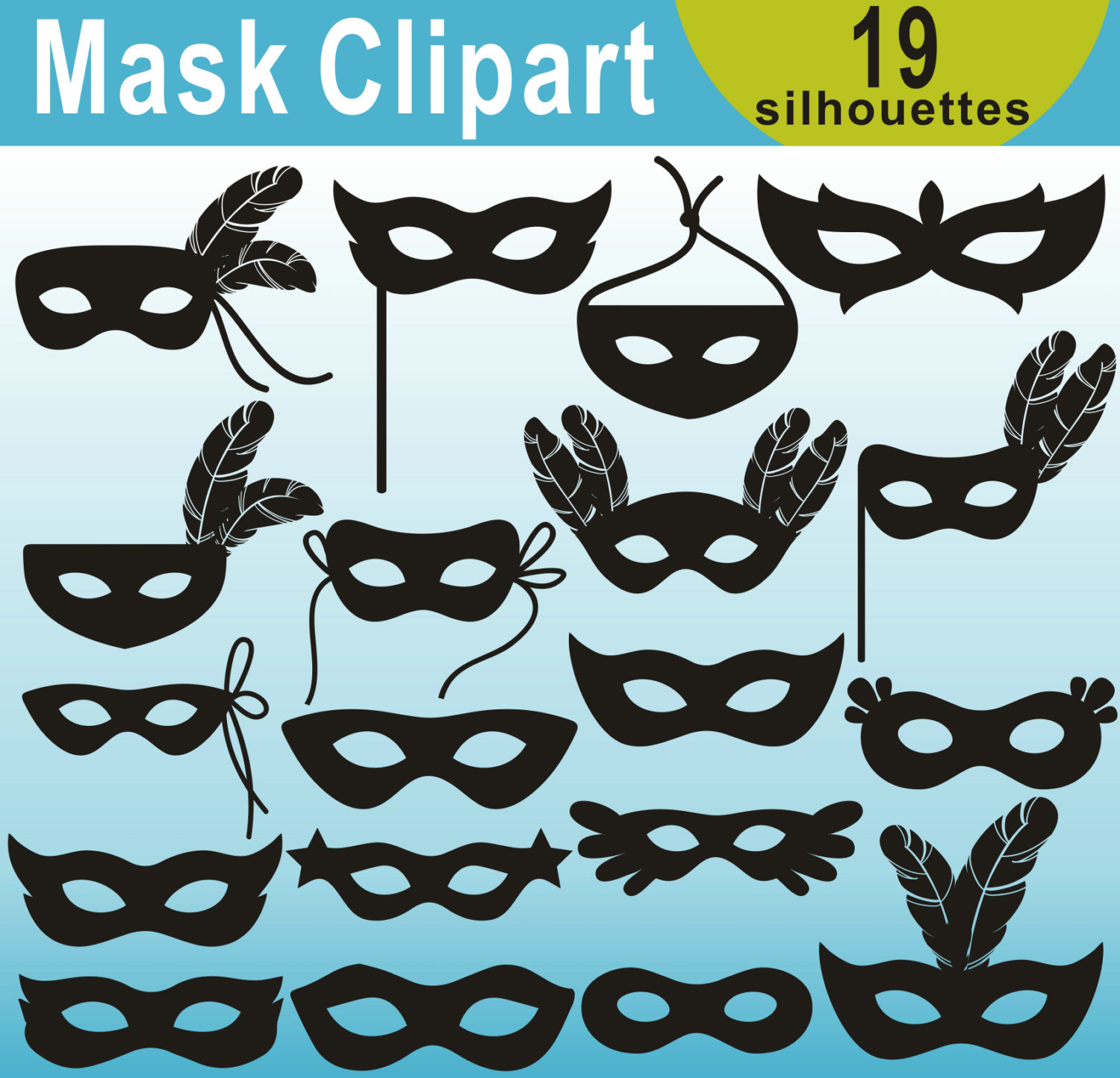 Masquerade clipart silhouette Is Mask Clipart Silhouettes Mask