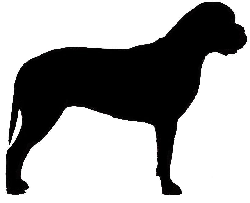 Mastiff clipart Clipart Silhouette Mastiff Bordeaux Mastiff