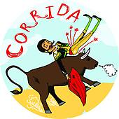Matador clipart In Bullfighting air Spain; Royalty
