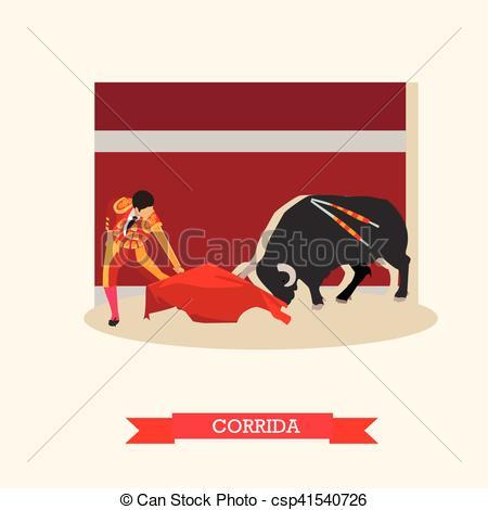 Matador clipart spain Csp41540726 illustration  Corrida Vector