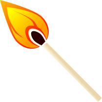 Match clipart tennis court Match Art Download Flame Match
