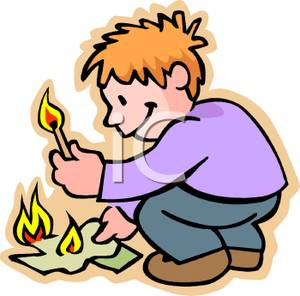 Matches clipart arson #2