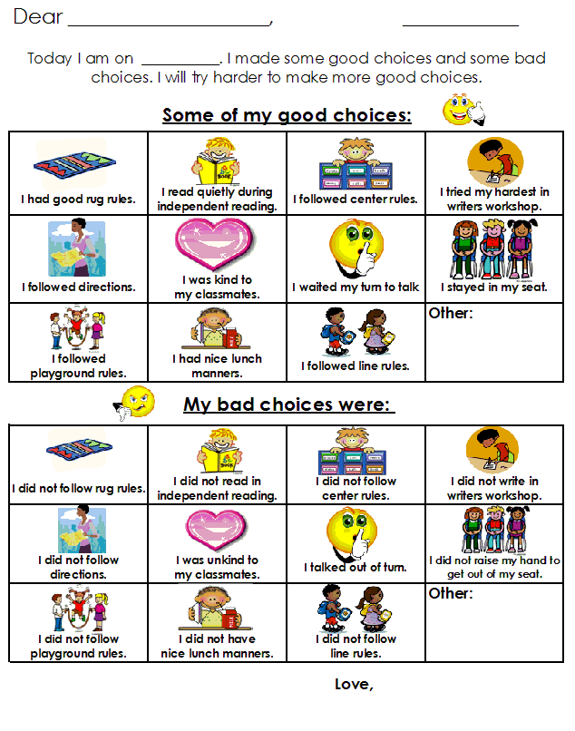 Choice clipart result discussion To good Behavior Aloha Plan