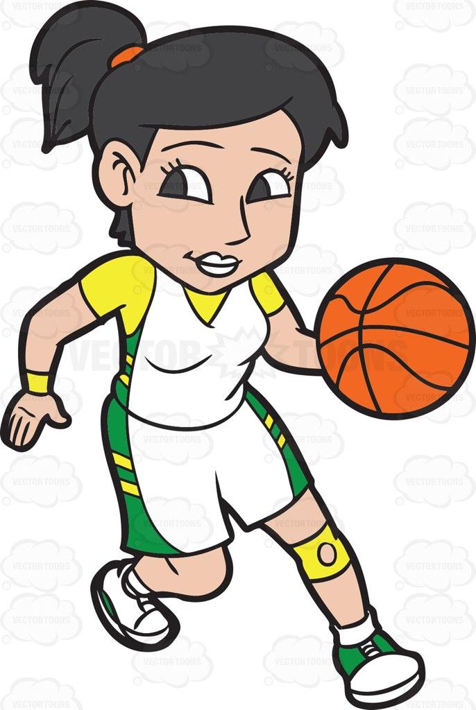 Women clipart basketball player Game Practicing Basketball Clipart Basketball