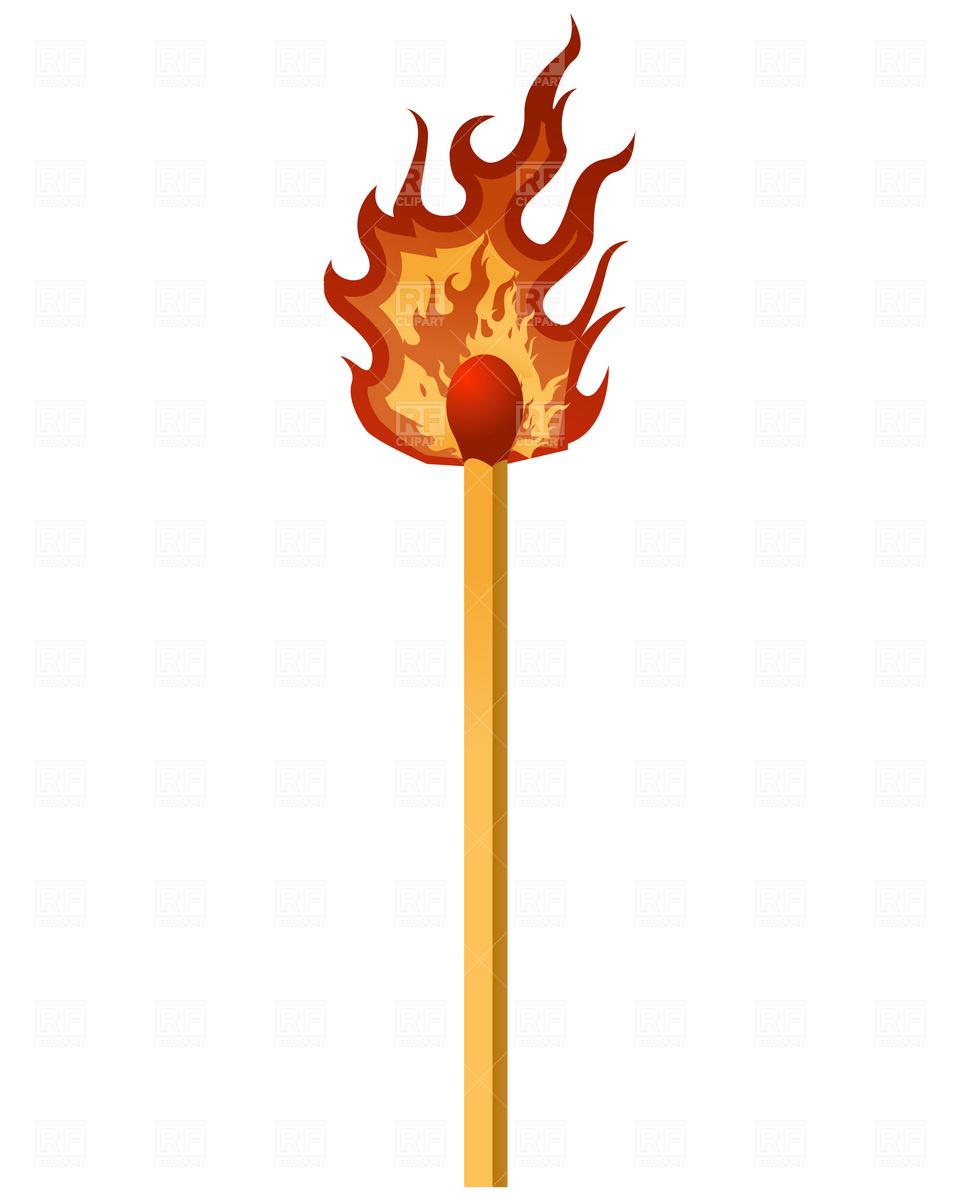 Matches clipart lit matches #4