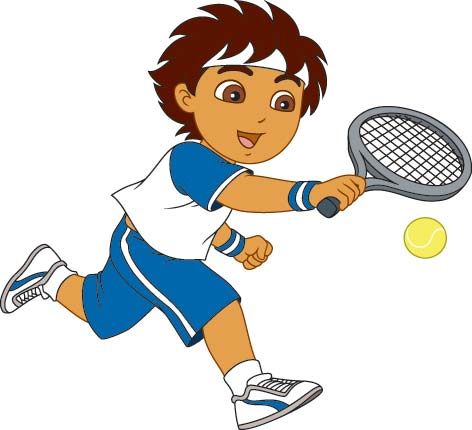 Moving clipart tennis #2